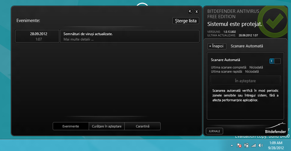 Windows 8 Antivirus - Bitdefender Free Edition