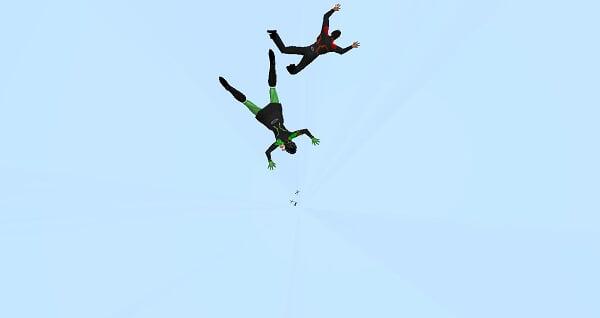 Paraquedismo na Estação USS Venture no SL Paraquedismo%20no%20sl_021