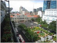 Elegant buildings and gardens in Ho Chi Minh City