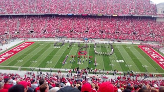 Very nice - Ohio State School for the Blind band does Script Oh with OSU band