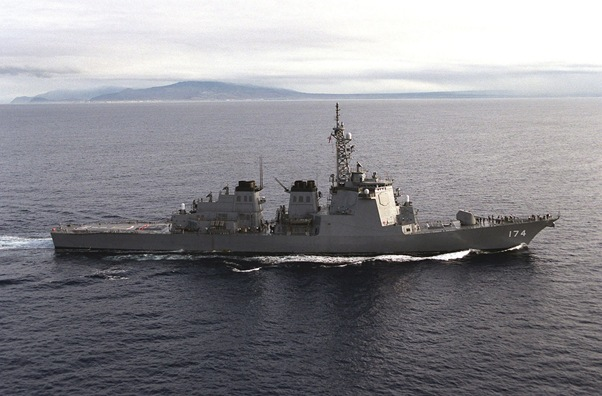 vessel in the Kongou class, the destroyer Kirishima is one of three Japanese war ships in line to receive an upgrade to the Aegis SM-3 Block 1A ballistic missile defense system developed by prime contractors Boeing and Raytheon.