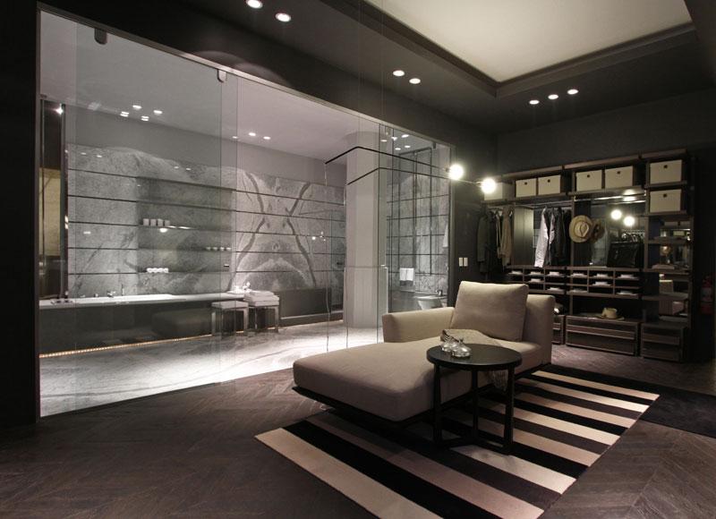 Dormitorio Baño Vestidor Plano:Casa FOA 2012: Cuarto de Vestir con Baño – Estudio López + Penas