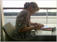 Chrissy Nason - writer at work!
