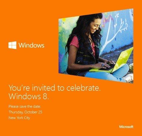 windows8发布 邀请函