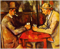 The Card Players by Cezanne, 1892
