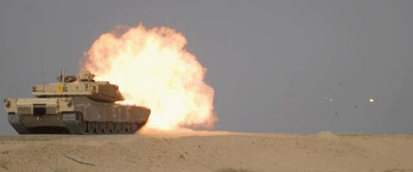 Iraqi M1A1 Abrhams Tank Live Fire Exercise