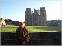 Glynis at Wells Cathedral