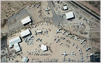 Aerial view of Pima Air and Space Museum, Tucson, Arizona