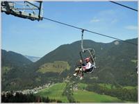 Vitranc chairlift in Kranjska Gora, Slovenia