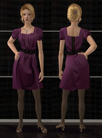 Satin dresses for AF Satindress_1