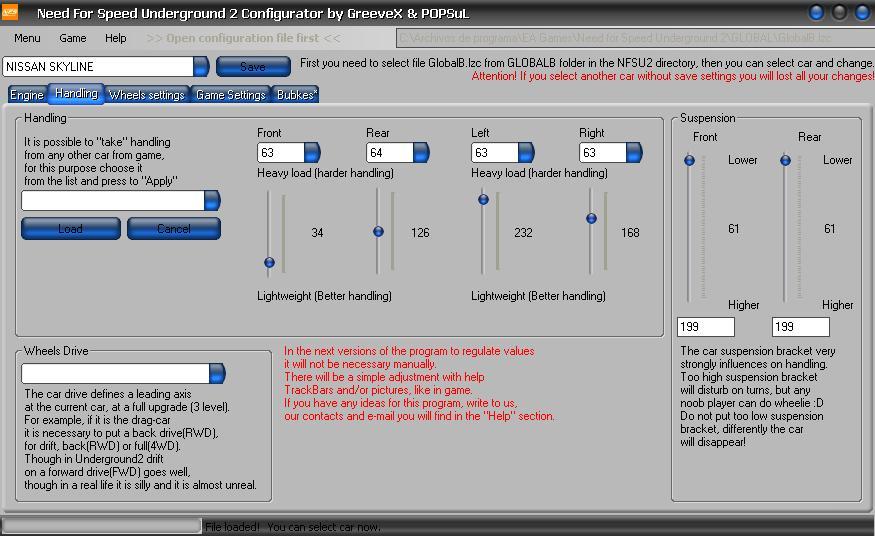 nfsu2 car configurator