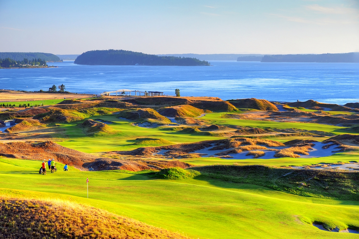 Sunset Chambers Bay Golf Course