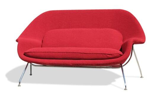 红色子宫沙发(Womb sofa)正面