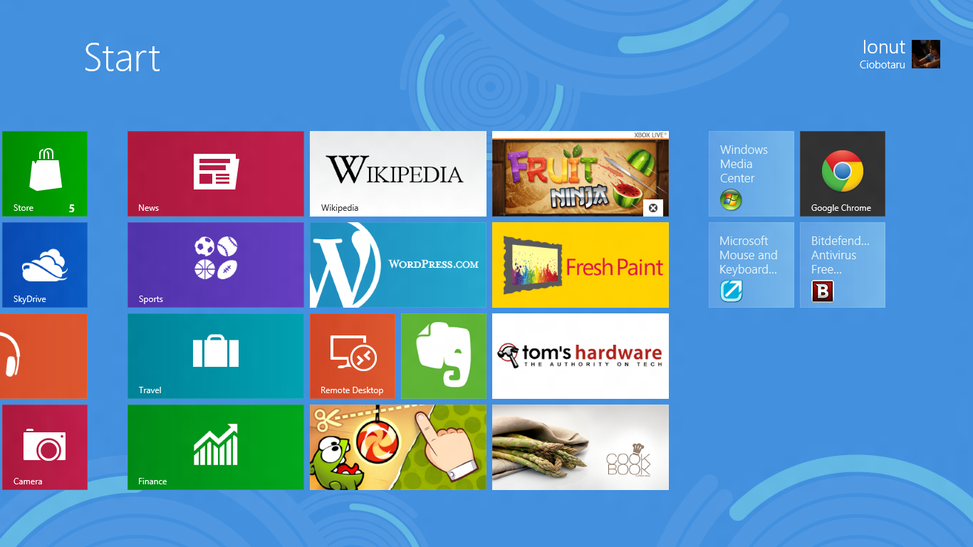 Bitdefender Free Edition - Windows 8 - Start Screen