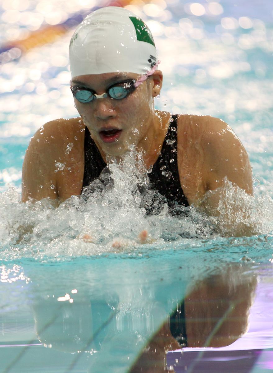 澳門利安琪刷新50米及100米蛙泳大會紀錄
