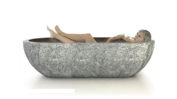 Bañeras de piedra, D'Vontz, decoracion, baños, interiores