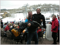 Mayor Bill Boineau with Simon Hudson at Venga Venga, Snowmass