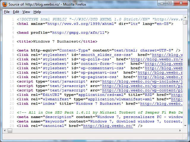 Firefox 12 - View Page Source