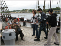 Filming on the Dunbrody