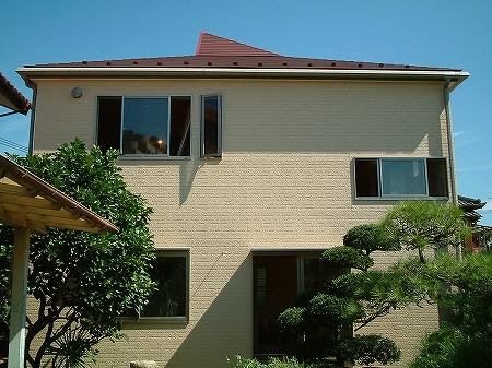 吹き抜け・オール電化床暖房・デザイン注文住宅の工事過程写真18外壁