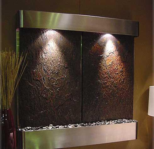 Cascadas y fuentes de interior,decoracion, diseño, idea