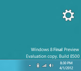 Windows 8 Final Preview Build 8500