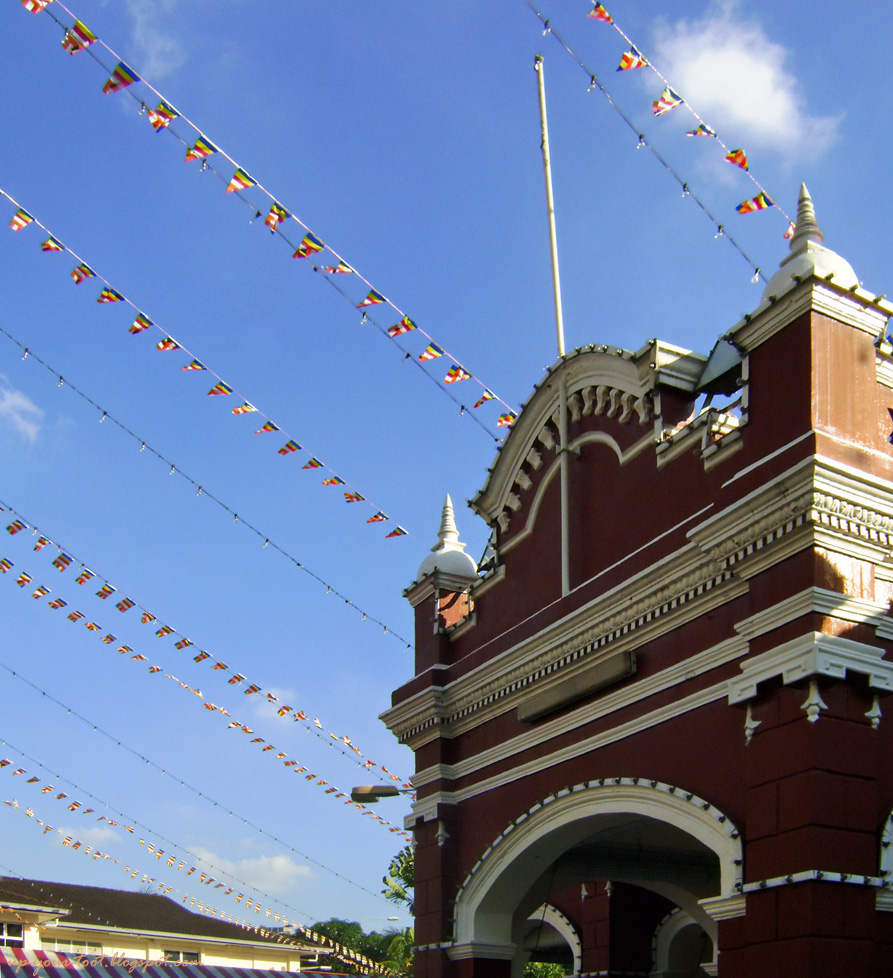 Flags for Wesak Day 2012 at Buddhist Maha Vihara Brickfields