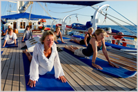 Yoga session on Star Clipper