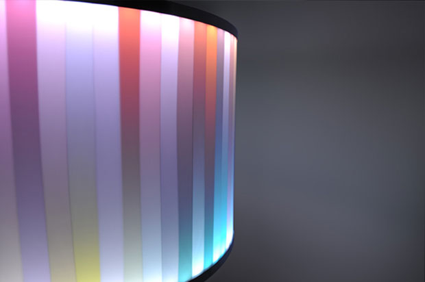 Lampara Multicolor Optone OBI, Tsutomu Mutoh, iluminacion, tecnologia