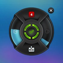 BitDefender Total Security 2013 - Widget