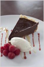 Chef made chocolate tart!
