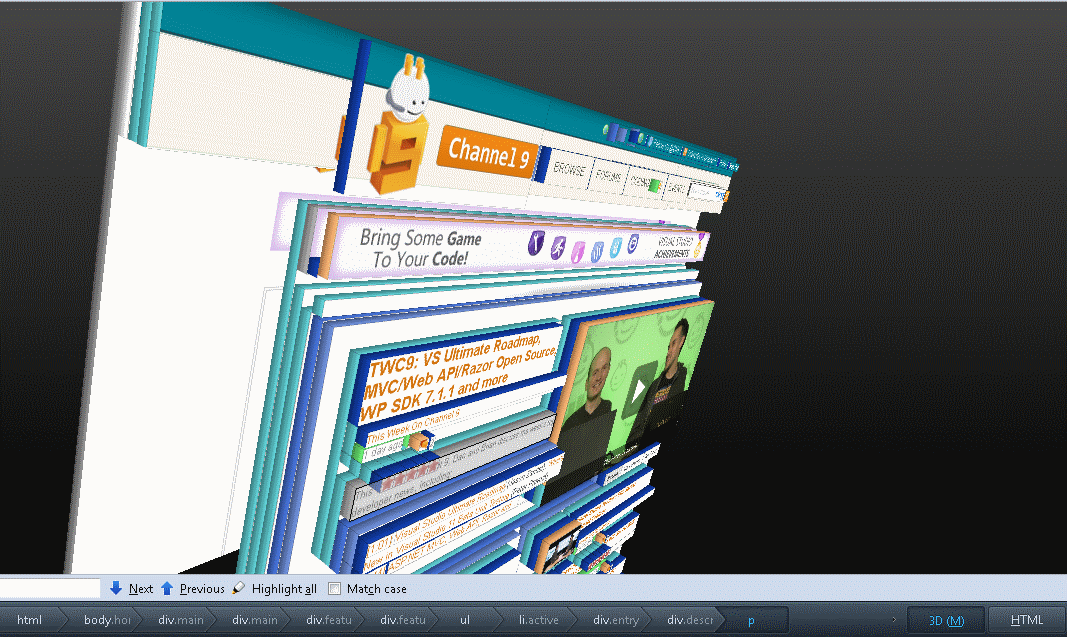 Channel 9 in 3D Rendered Inspector