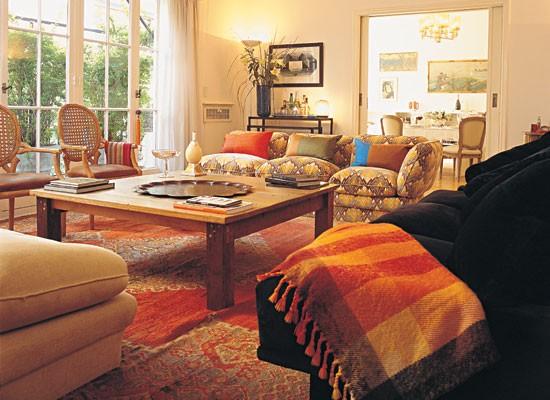 Living Decoracion Ideas ~ Una combinaci?n de muebles ecl?ctica l?mpara de Murano sobre la
