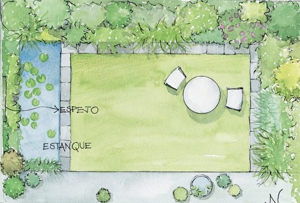 jardin 6 Pequeño edén: jardines urbanos con poco espacio decorar, decoración