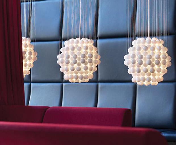 Lámpara de polipropileno, Ball Typ - Verner Panton, Decoracion, iluminacion, diseño