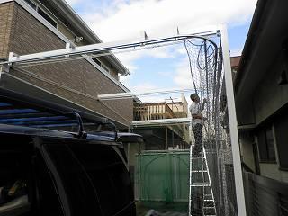 飛球防止ネット バッティング練習ネット 可動式屋根 開閉屋根 テント