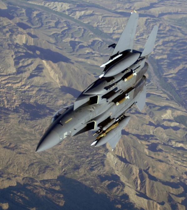 F15 Strike Eagle Performing CAS Mission