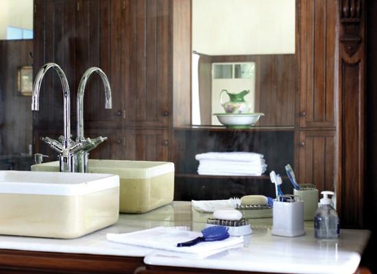 Bachas Blancas Para Baño:(de líneas rectas o a presión), propuestas monocomando; bachas de