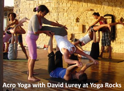 Acro Yoga with David Lurey at Yoga Rocks