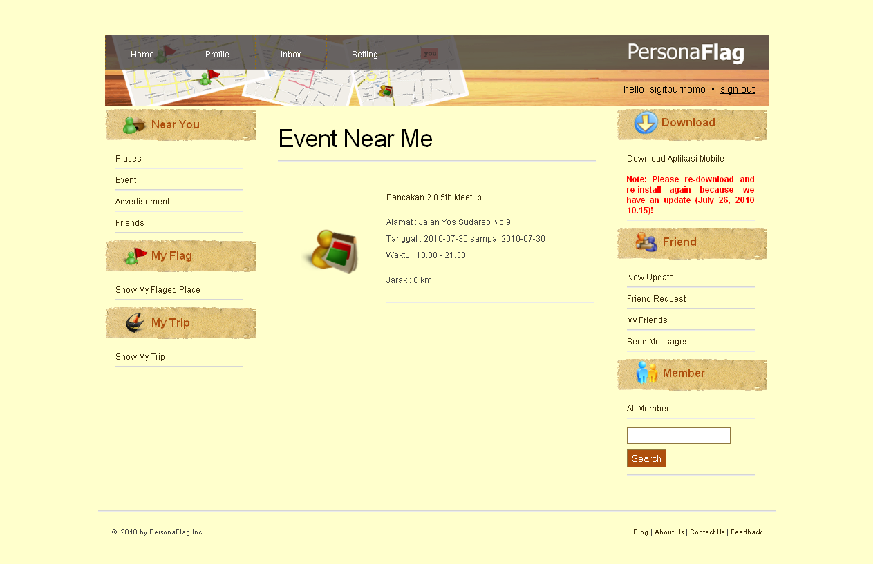 Web App - Near Me [Event]