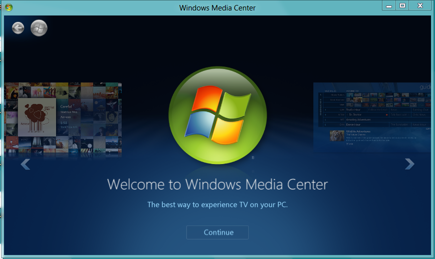 Windows 8 - Windows Media Center
