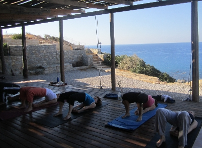 Setu Bandhasana on Yoga Holiday