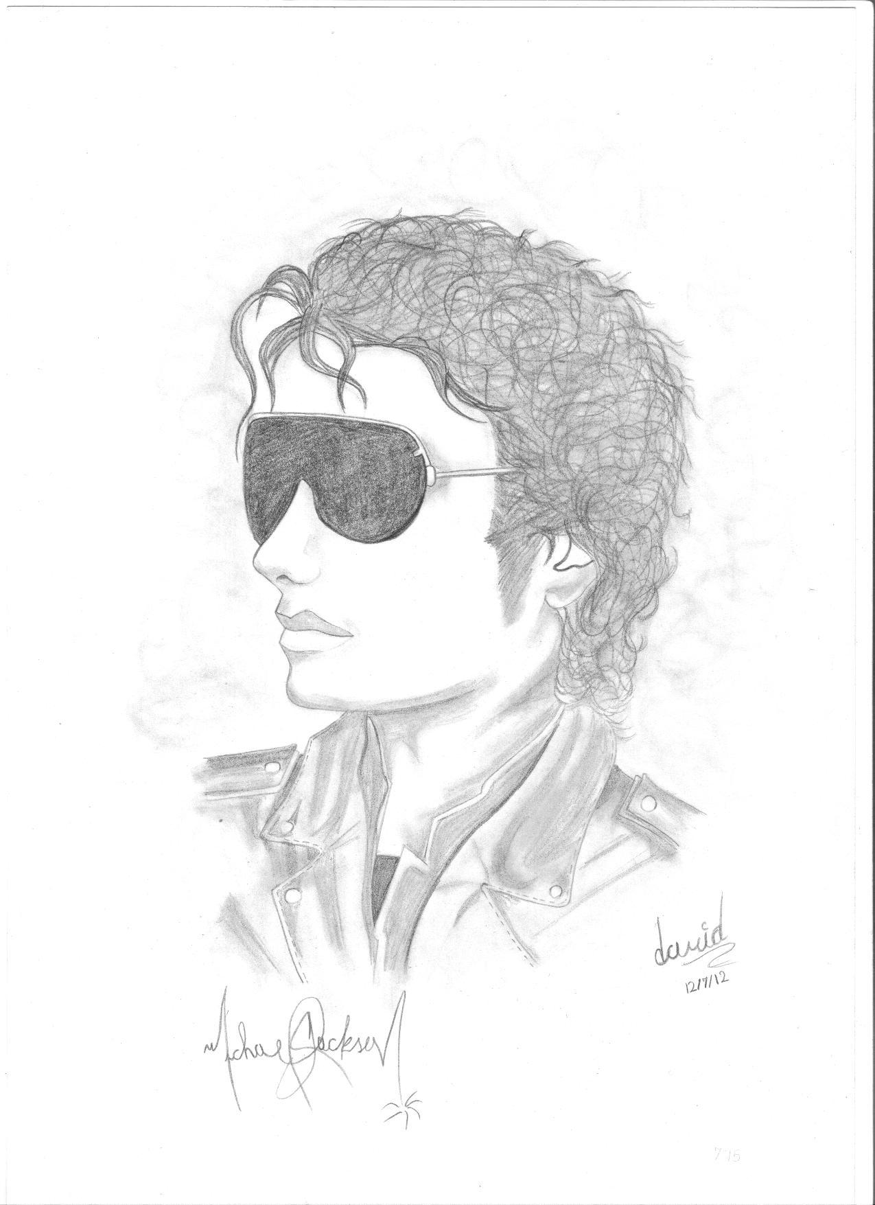 Grandes de la MUsica; dibujos de  Michael Jackson, Kiss