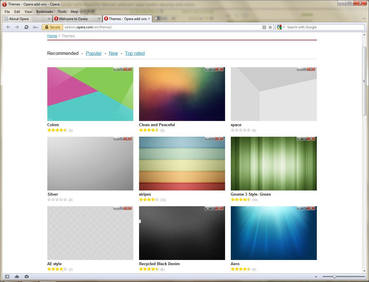 Google themes opera - Opera 12 Themes
