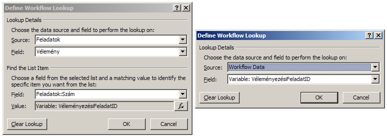 Define Workflow Lookup