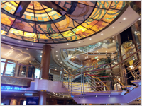 The splendid Atrium was a real focal point of the Oceana