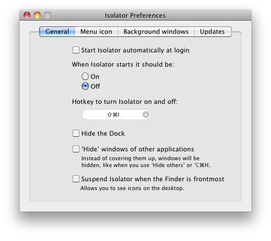 Isolator-帮你专注于一项任务